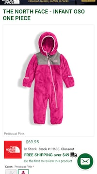THE NORTH FACE - INFANT OSO ONE PIECE Buffalo, 14215