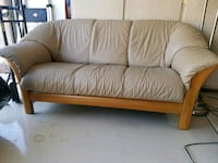 Teak leather couch Scottsdale, 85260