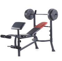 Weider Bench with 80 Lb.  Weight
