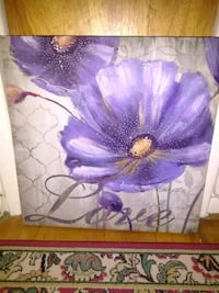 purple poppies love painting