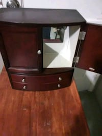 brown wooden side table with cabinet Phoenix, 85040