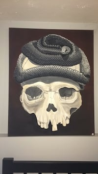 Snake on Skull Original Acrylic Painting St Catharines, L2T 3K7