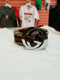 black and white Gucci leather belt 1962 km