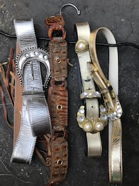 Leather belts $3 ea or all for $10 Norwalk
