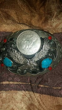 Belt buckle with real stones k