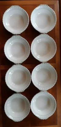 "6 pieces - Cream Petal W.H. Grindley  - 6 Serving Bowls - 8"" round, 2 1/2 "" deep  $60 for all 6 pieces or $15 per piece  Pickup in Newmarket Newmarket"