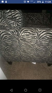 Zebra like print accent chair Edgewood, 21040