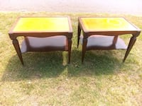 Vintage end tables solid wood with wheels Birmingham, 35209