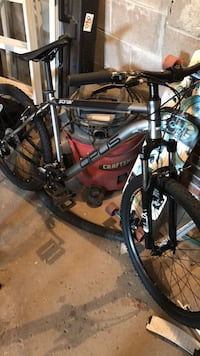 black and red hardtail mountain bike Toronto, M2L 1S4