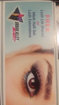 Free lash lift or extensions coupon Spruce Grove, T7X 2T2