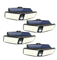Outdoor Motion Solar Lights, Waterproof (4 Pack) NEW ½ RETAIL