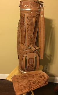 Genuine leather golf bag by flores Plano