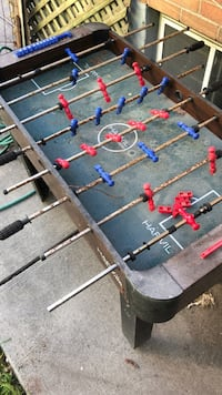 Blue, red, and green foosball table Toronto, M3J 1P6
