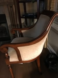 brown and white wooden rocking chair
