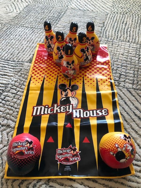 607e9c046bc47 Used Mickey Mouse bowling set for sale in Walnut - letgo