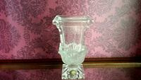Crystal frosted vase  St. Catharines