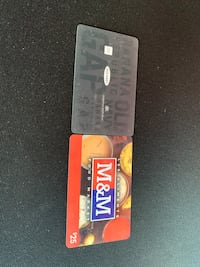 Two gift cards