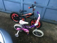 Kids bicycles $50.00 for both or $25.00 for each . Parkville, 21234
