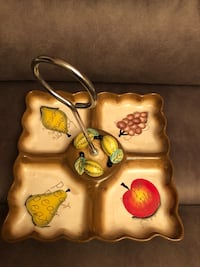 New ceramic fruit platter with handle