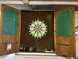 Hand Crafted Dart Board Set