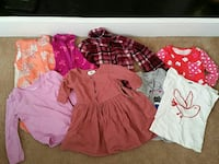 Girls clothing, sz 4T. Lot of shirts 10 total.