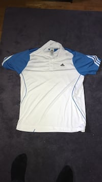 Blue and while adidas golf shirt  Oshawa, L1H 8X5