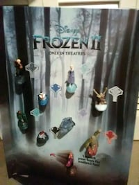 Frozen Disney Toy display with the toy's