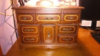 brown wooden dresser with mirror Penetanguishene, L9M 1J2