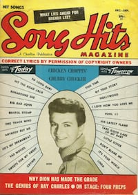 Song Hits Mag 1961 62 Chubby Checker Dion SONG HITS The Drifters Shond