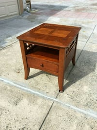Large wood side table Queens, 11105