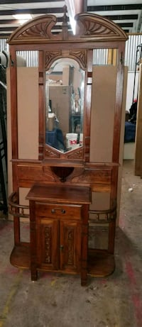 Antique Entryway halltree/ furniture Grapevine