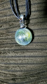 Hand blown glass necklace by monkeyboyart Seattle, 98125