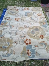 white, brown, and blue floral area rug Saint Petersburg, 33713