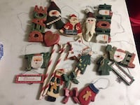 20 piece wooden christmas ornaments