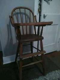 Old wooden High chair firm on price,higher bids ok Oklahoma City, 73107
