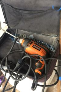 Ridgid 3/8 drill electric comes with case and some drill bits