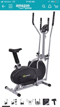 oplus 2 IN 1 Elliptical Fan Bike Dual Cross Trainer Machine Exercise Workout Home Gym Hagerstown, 21740