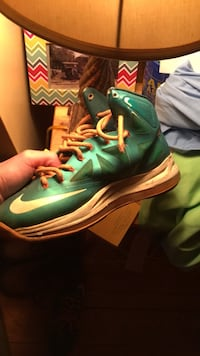 Unpaired green nike basketball shoe Owingsville, 40360