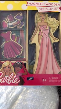 Barbie magnetic wooden dress up set