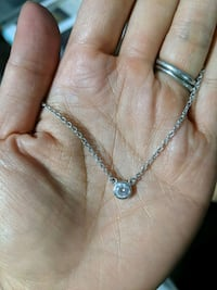 Sterling Silver Crystal Necklace Toronto, M6H 4A9