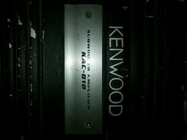 black and gray KENWOOD car amplifier