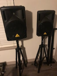 Behring pair of speakers with stands and additional stand. Austin, 78741