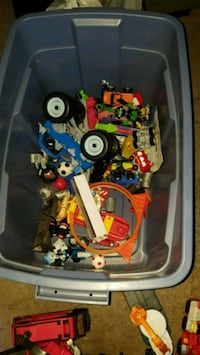 Box with toys make an offer 2223 mi