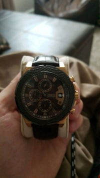 Guess Brown and Rose gold watch 1 km