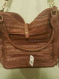 Brown leather bag Mesa, 85204