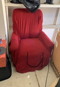 Free recliner with one piece cover.