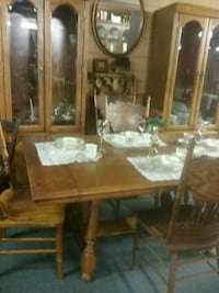 dinette set, 2 China cupboards. del avail Spartanburg
