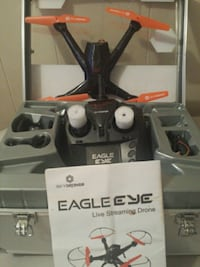 black and gray quadcopter drone with box Schenectady, 12303