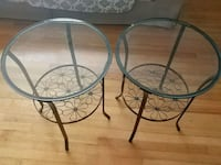 Two round glass top end tables Clearwater, 33755