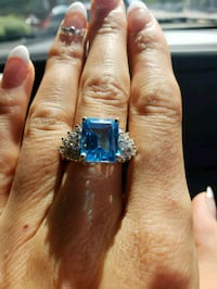 Gold ring with diamonds and topaz  Omaha, 68154